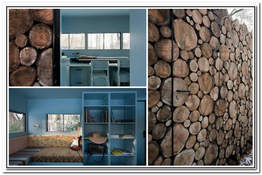 The Log House Designed By Piet Hein Eek