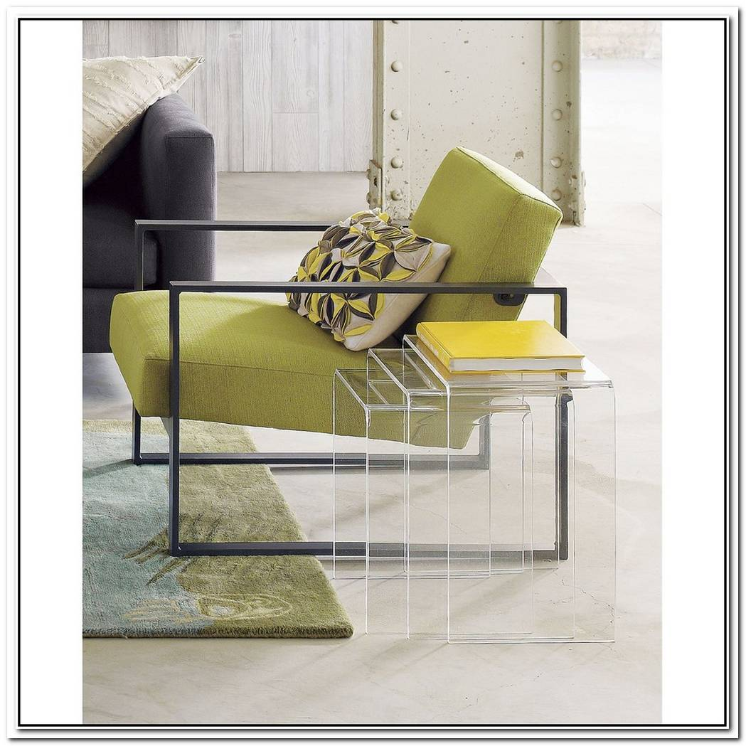 The Peekaboo Clear Nesting Tables