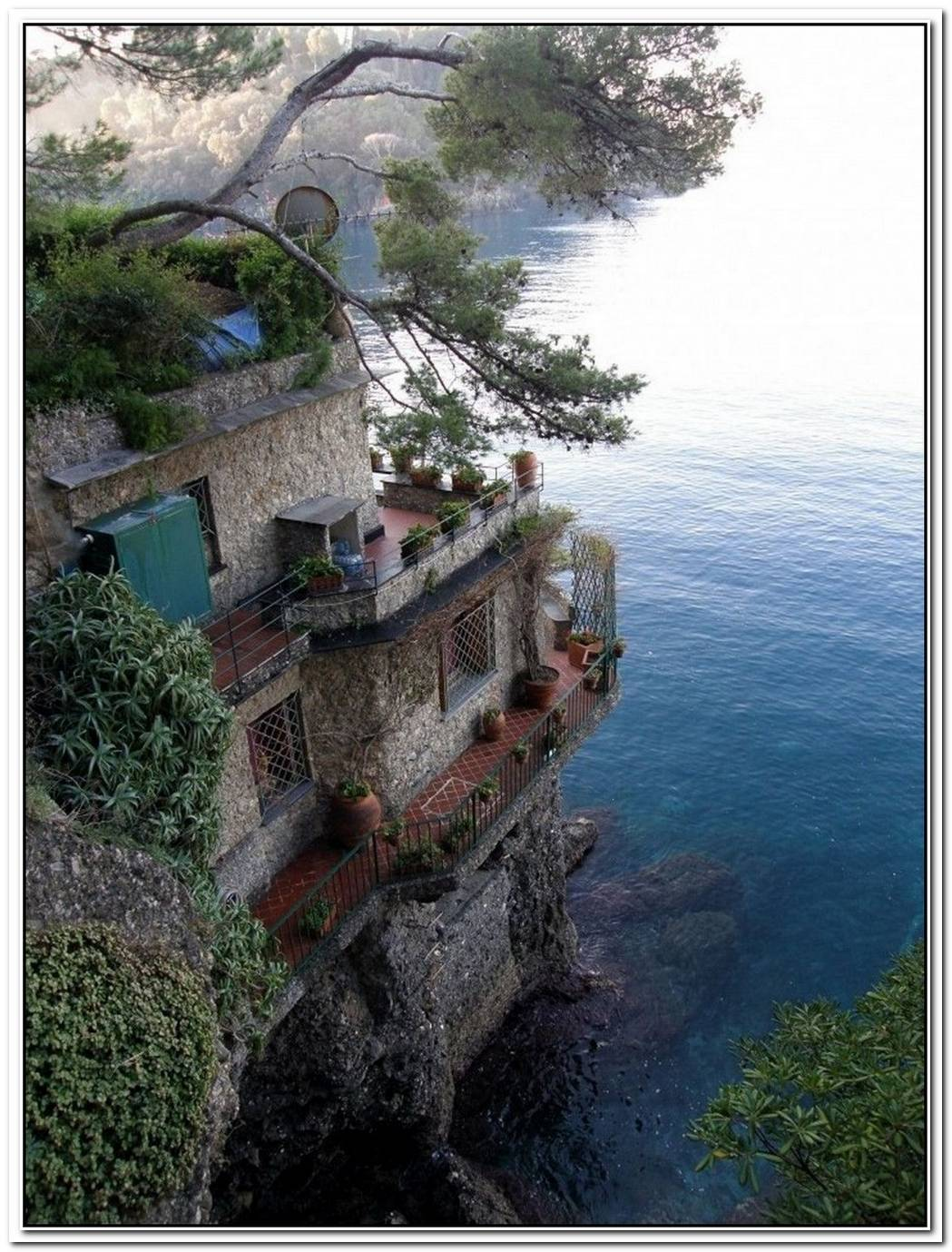 The Perfect House Stands On A Cliff