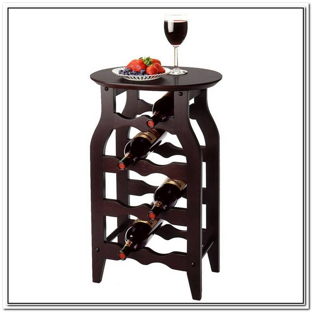 The Winsome 8 Bottle Oval Top Wine Rack