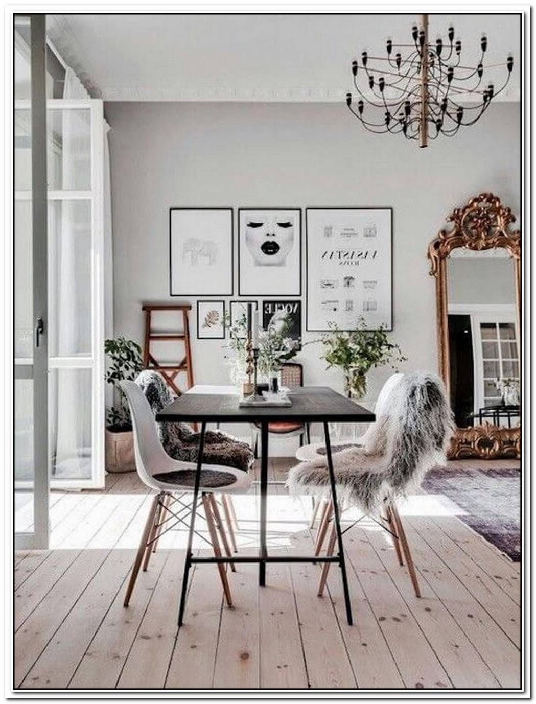 This Is How To Work The Faux Fur Trend In A Dining Room