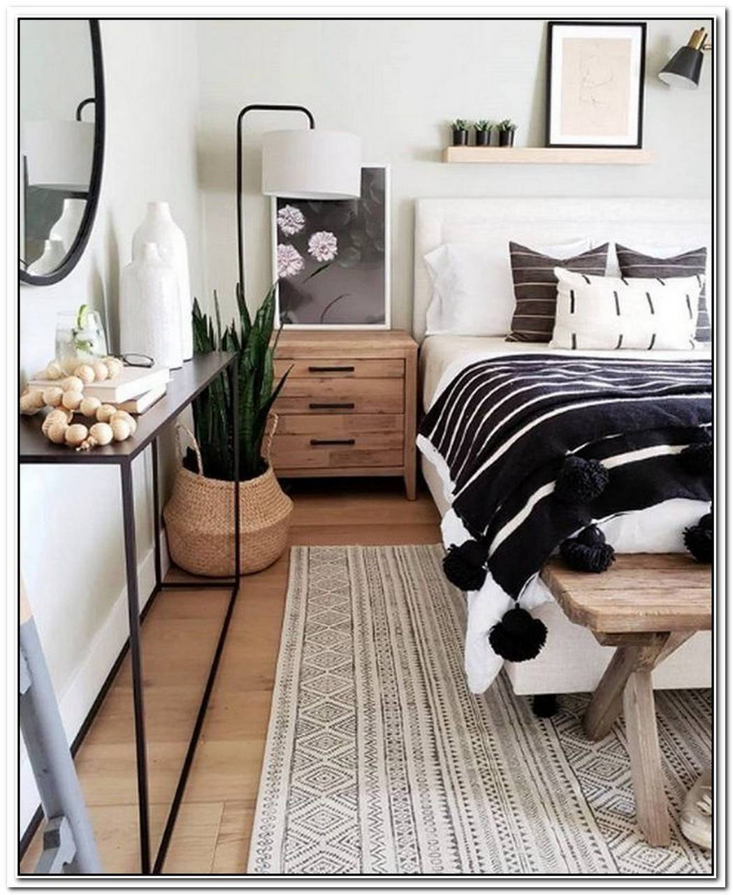 This Sophisticated Boho Bedroom Is A Texture Lover%E2%80%99S Dream