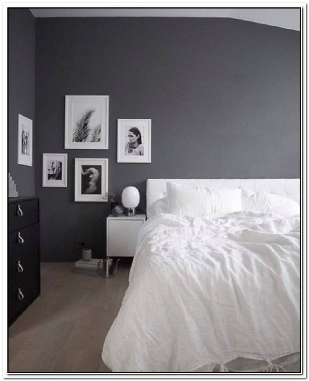 This Stunning Shade Of Gray Elevates A Dreamy Minimal Bedroom