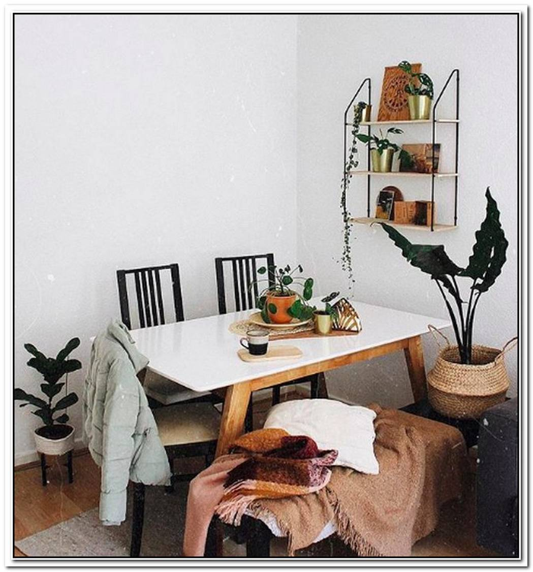 This Tiny Dining Area Is Big On Comfy Boho Vibes