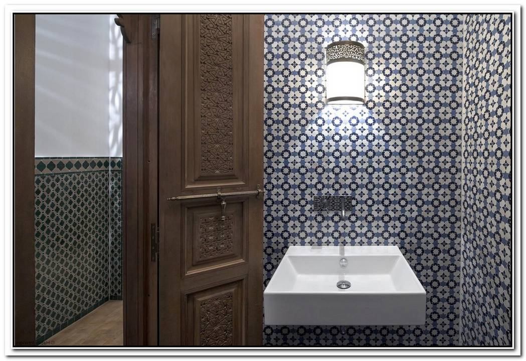 Tile Bathroom Traditional Bathroom Moroccan