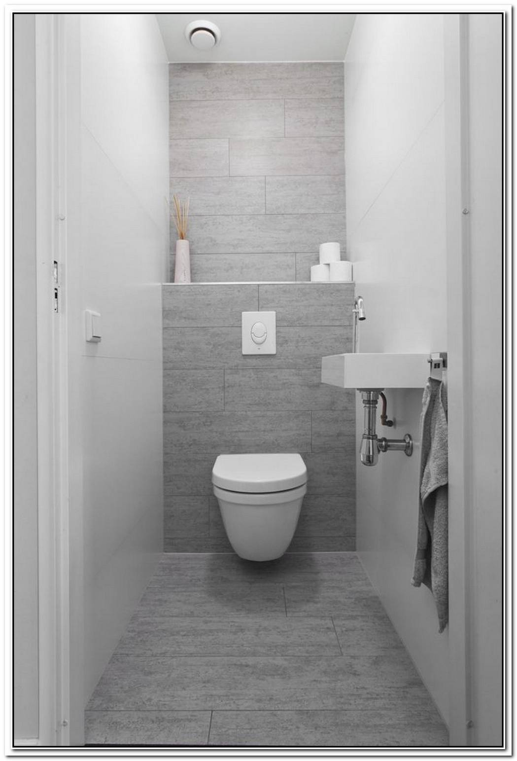 Tiled Contemporary Bathroom Toilet