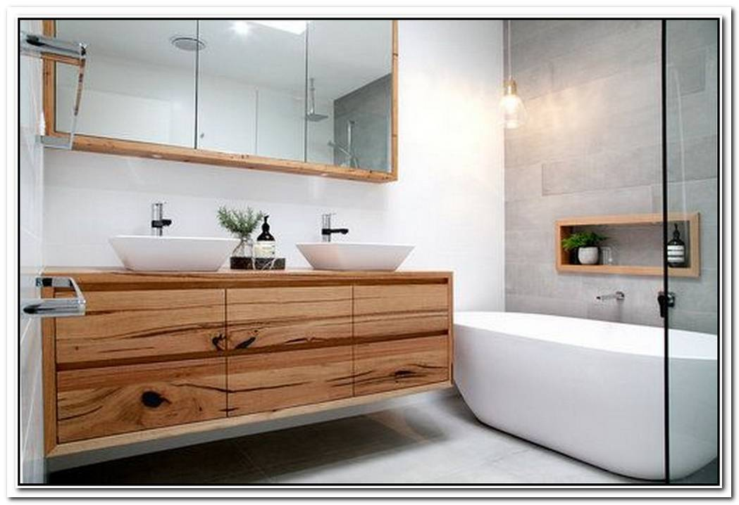 Timber Bathroom Modern Wall Hung