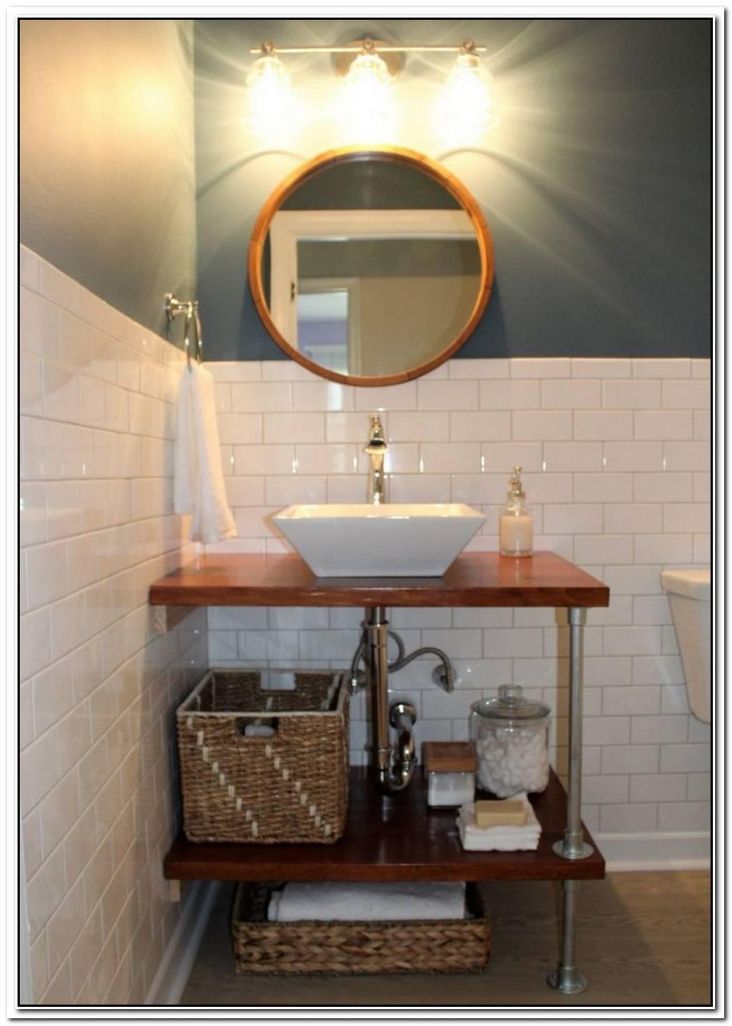 Timber Contemporary Bathroom Homemade