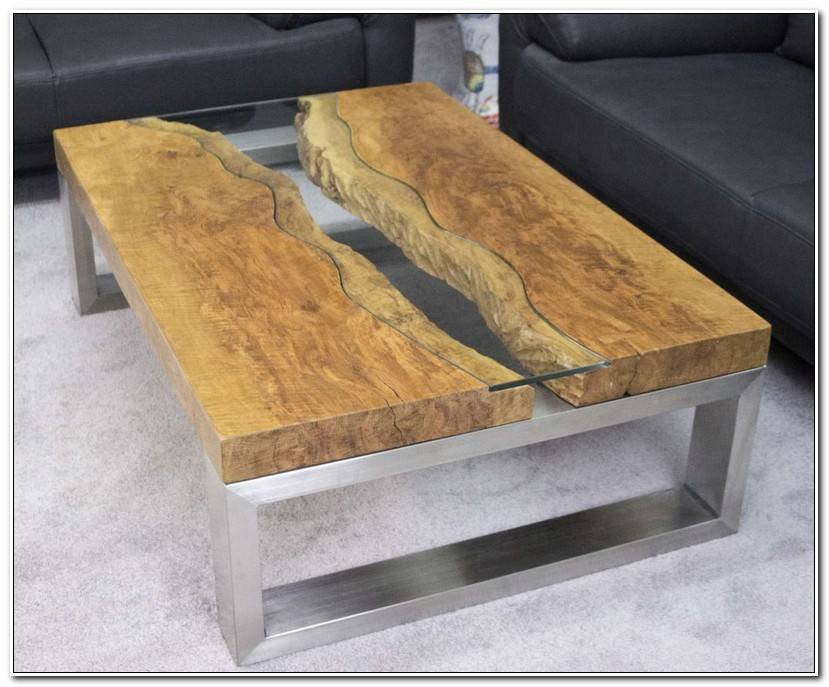 To Couchtisch Holz Glas