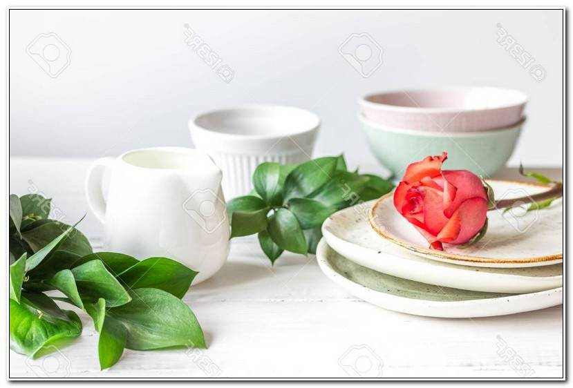 To Geschirr Blumen