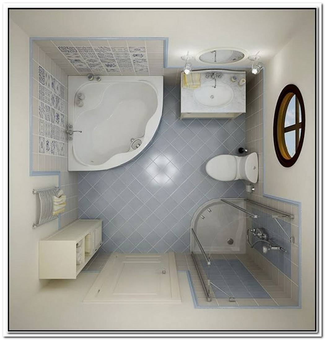 Top View Bathroom Small Space Tile