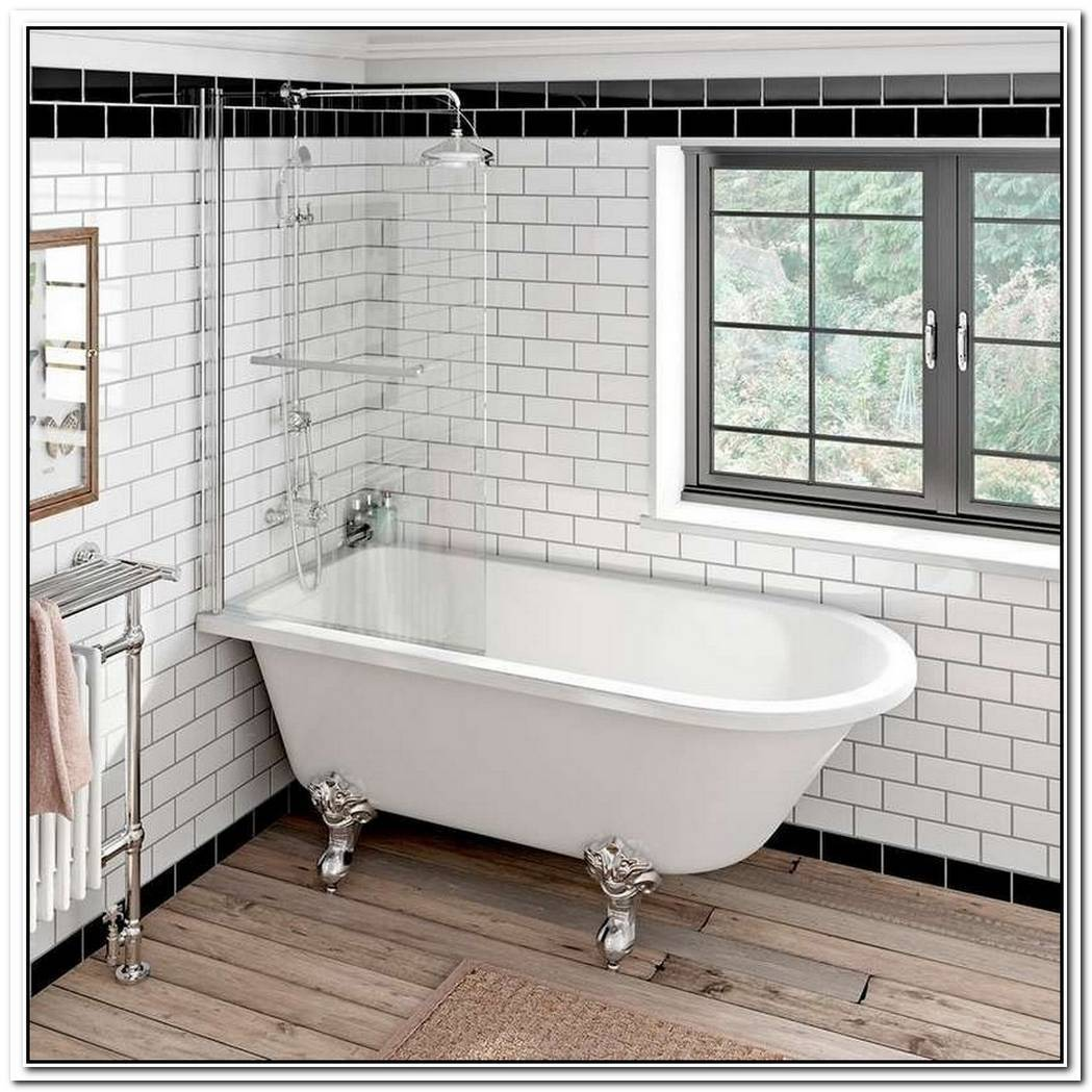 Traditional Bathroom Freestanding Tub Screens