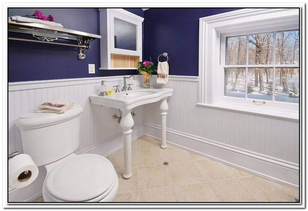 Traditional Bathroom Purple Blue