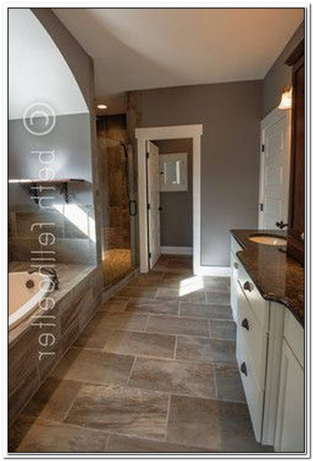Traditional Bathroom Slate Floor Tile