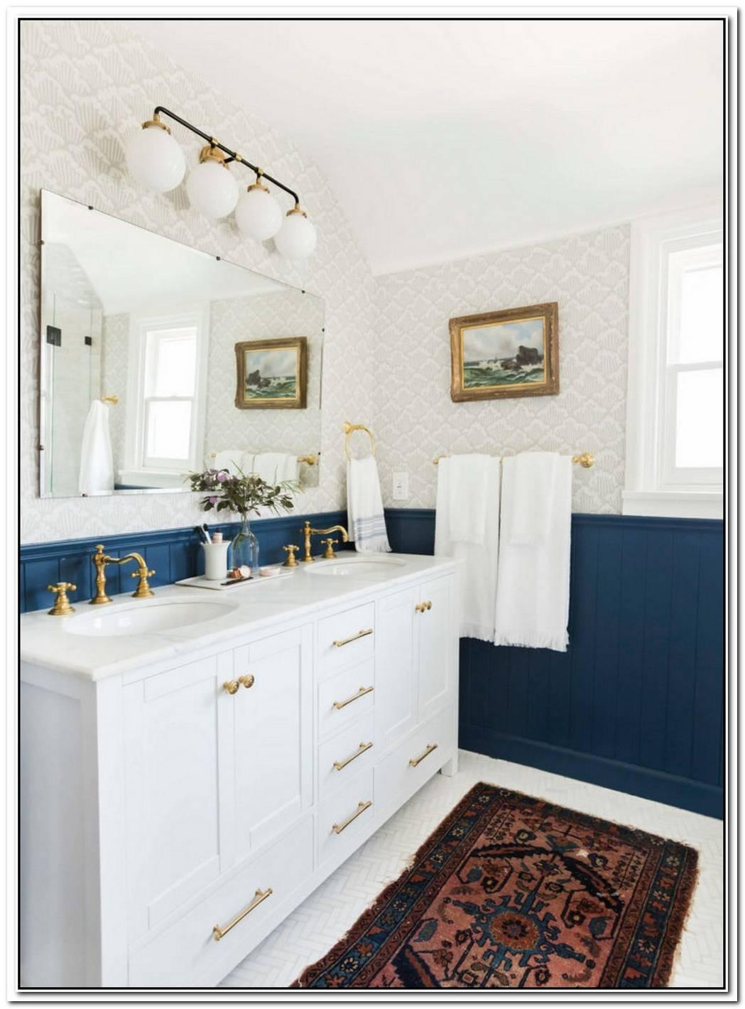 Traditional Bathroom Updated Modern English