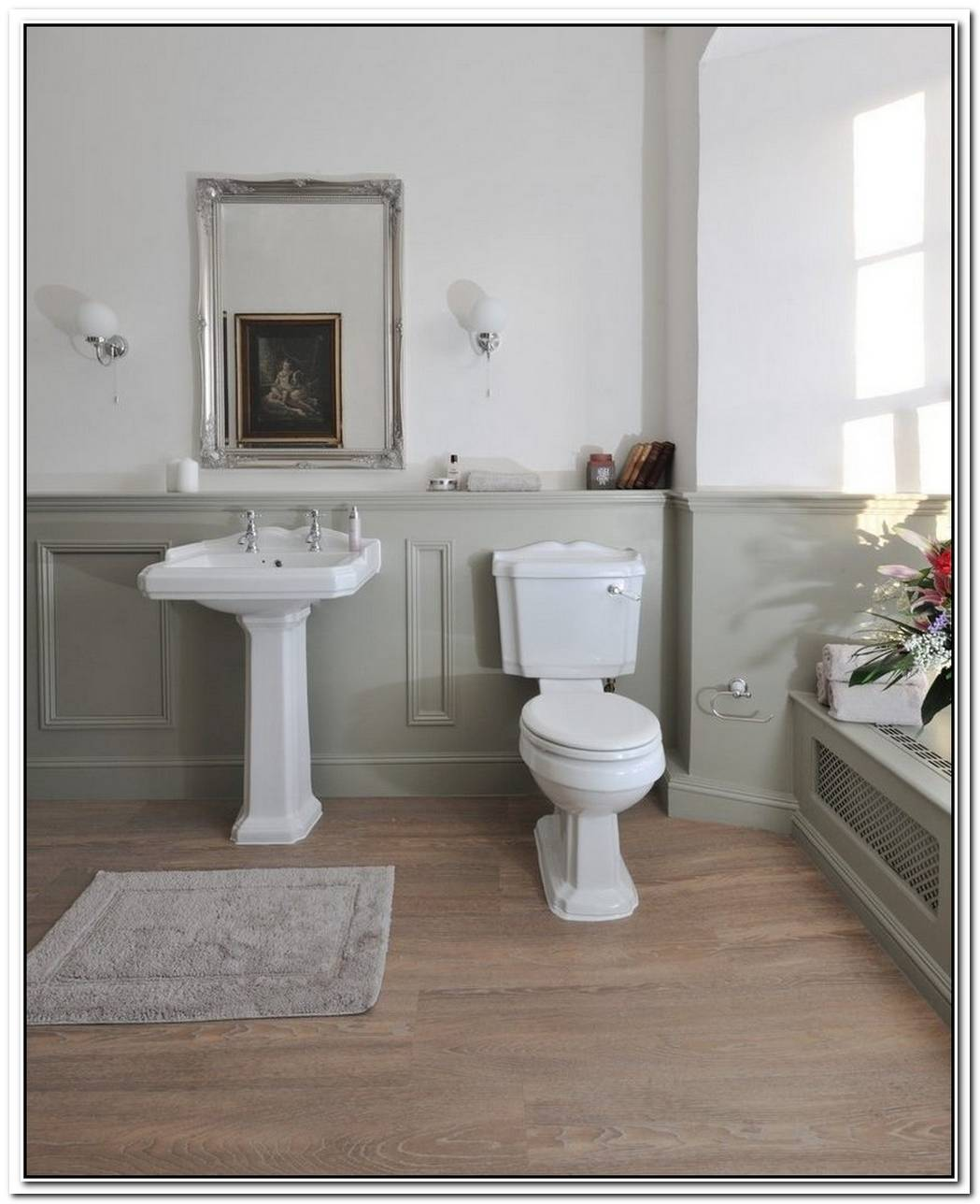 Traditional Bathroom Wood Panelling Washroom
