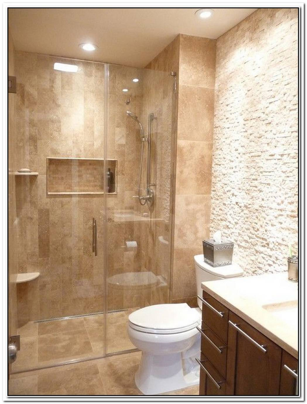 Travertine Bathroom Modern Bathroom Remodel