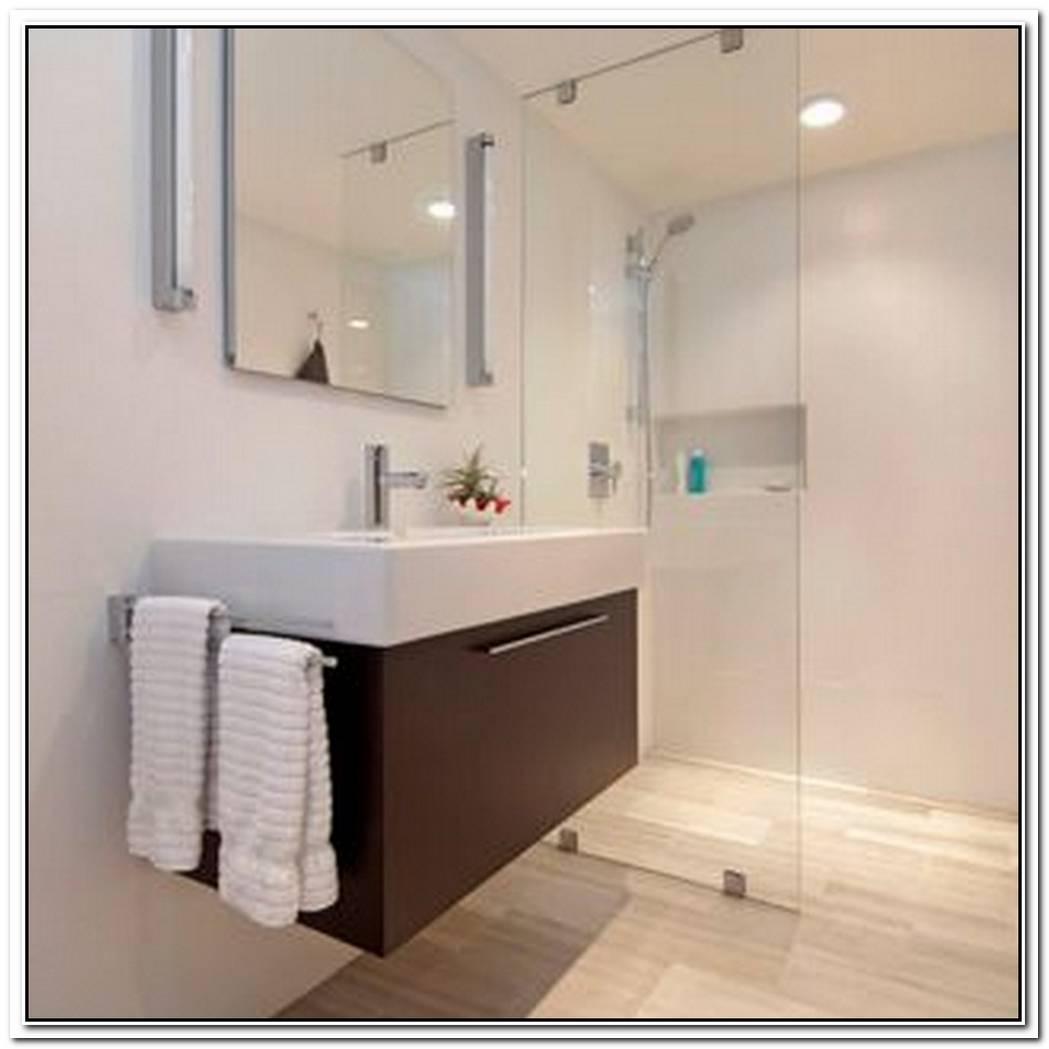 Travertine Bathroom Modern Trough
