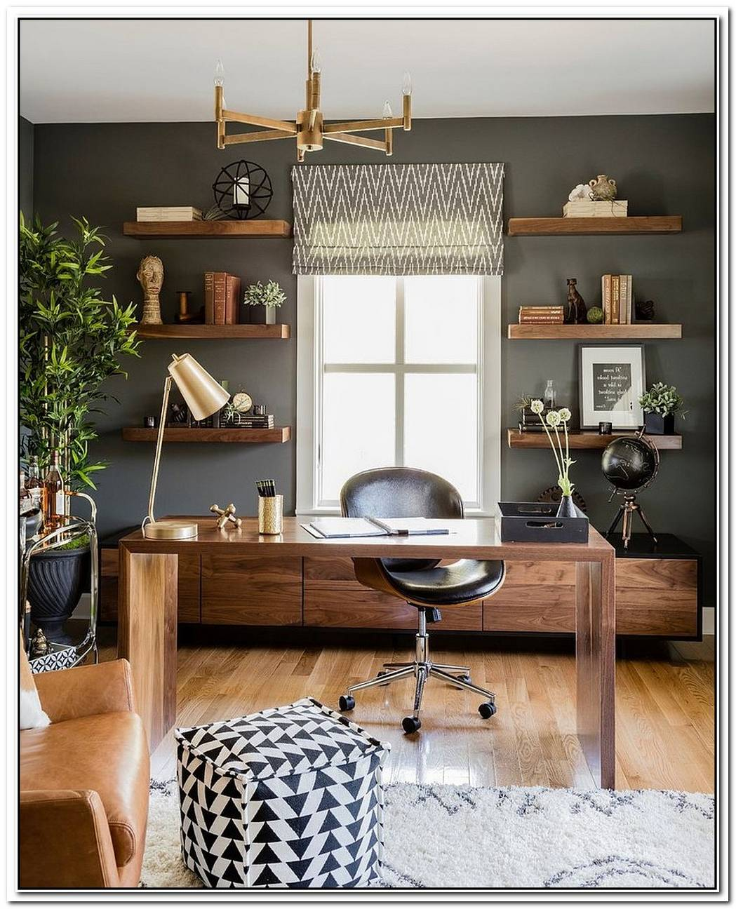 Trendy Accents For Your Home OfficeFrom Gold To Gorgeous Prints