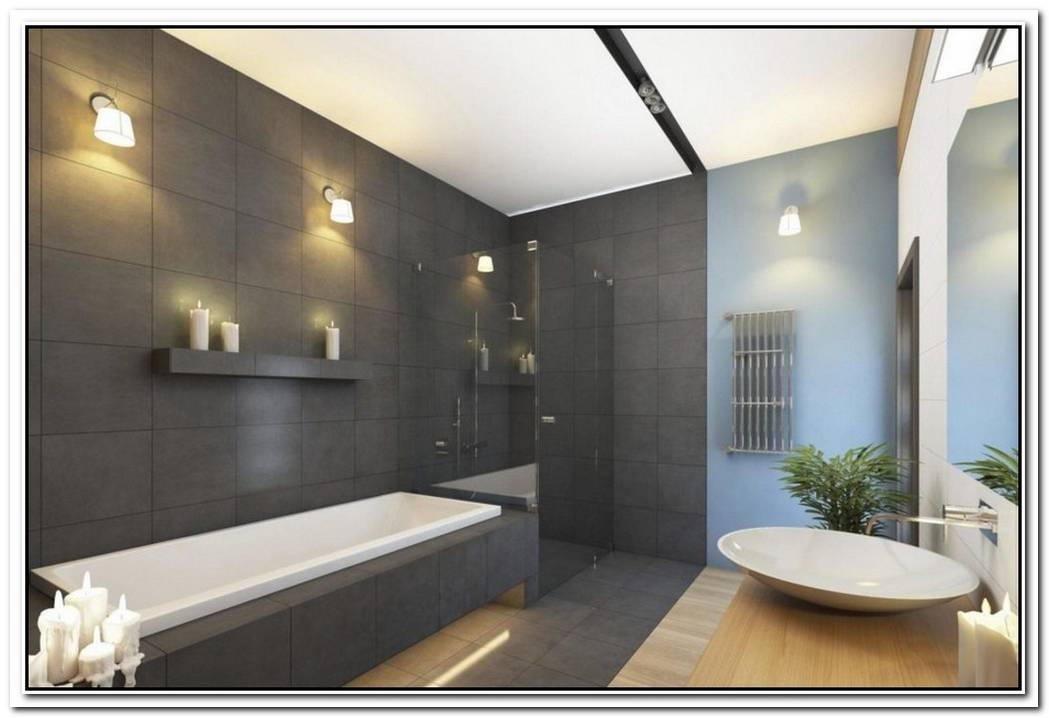 Trendy Contemporary Bathroom Large