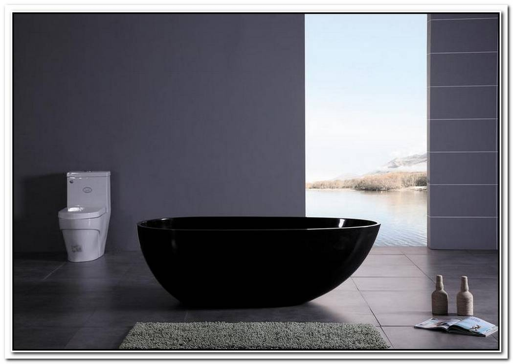 Tub Minimalist Bathroom Black