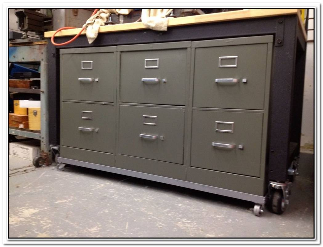 Turn An Old File Cabinet Into A Practical Storage Unit For The Garage