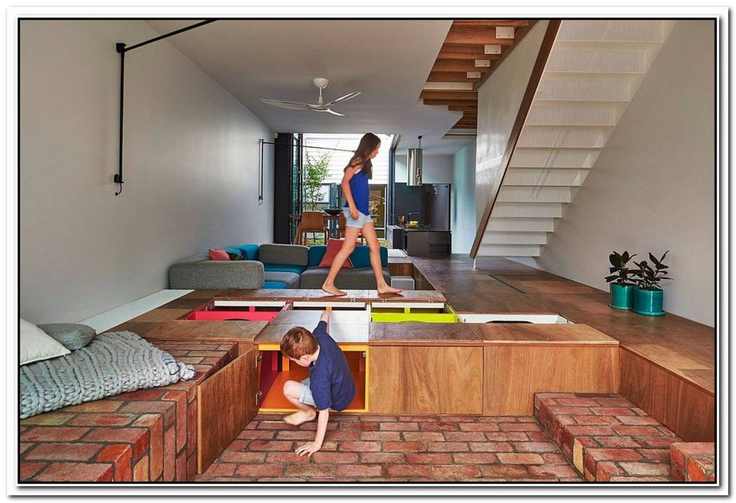 Unboxing PotentialCustom Design Turns The Floor Into Toy Storage Space