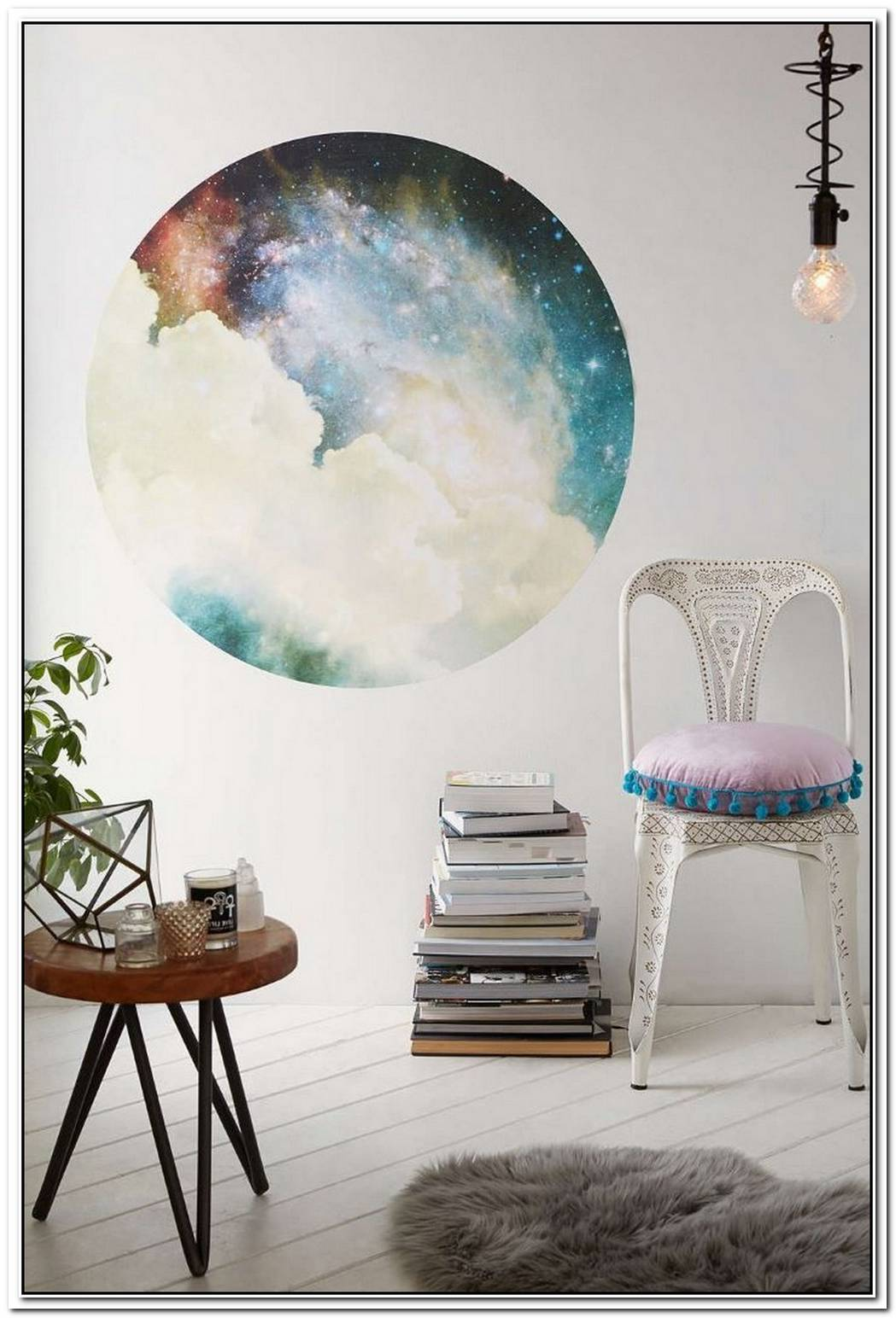 Under The Milky WayGalaxy And Moon Phase Decor