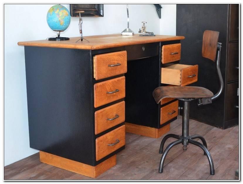 Unique Bureau Vintage Industriel