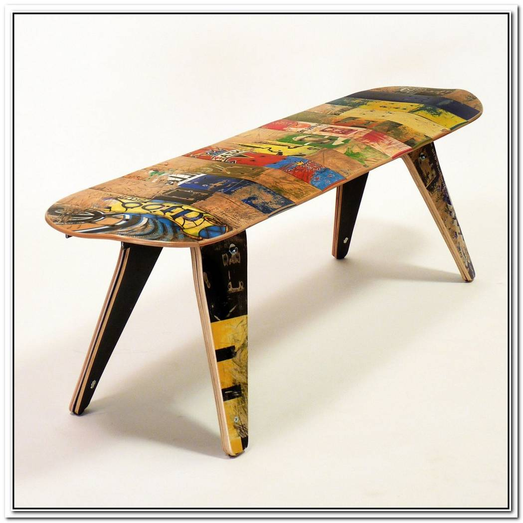 Unique Deck Stools And Deckbenches Made Of Recycled Skateboards