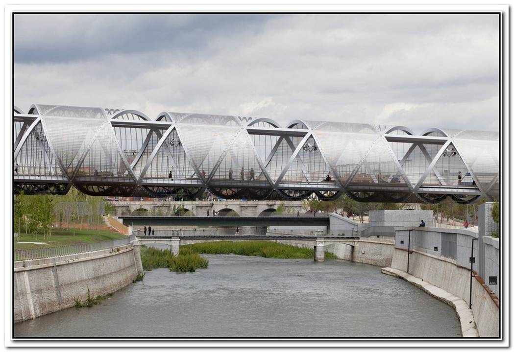 Unique Footbridge By Dominique Perrault Architecture