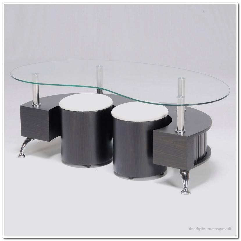 Unique Table Basse Avec Pouf Conforama