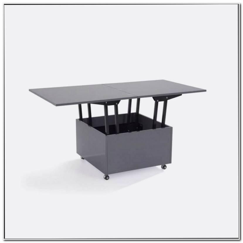 Unique Table Basse Relevable Verre