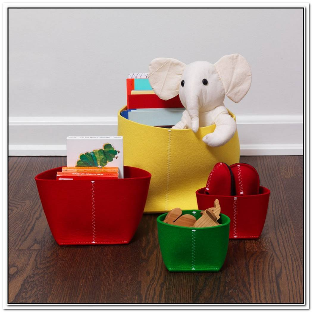 Useful Felt Storage Bin For Kids