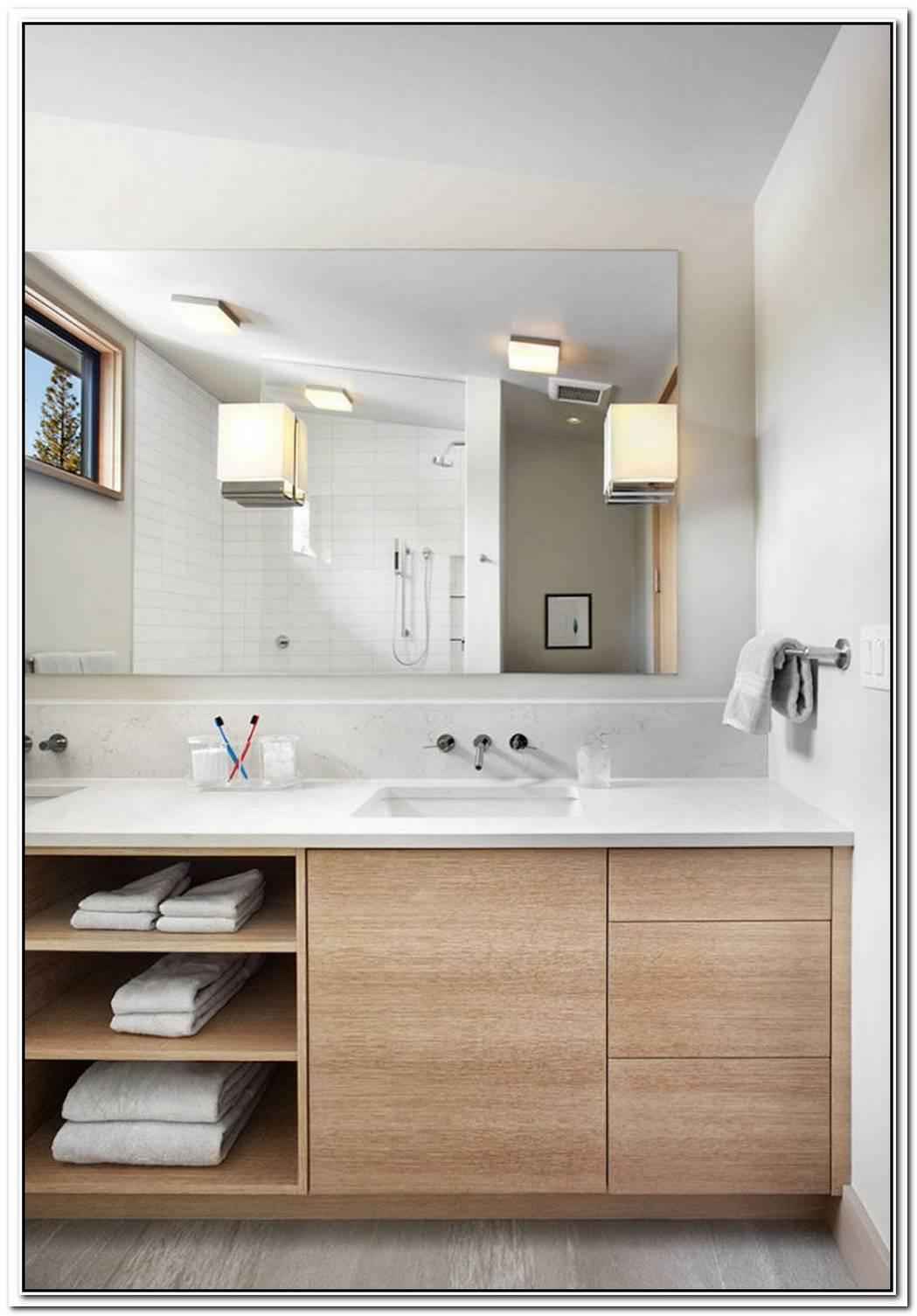 Vanity Organic Style Minimalist Bathroom