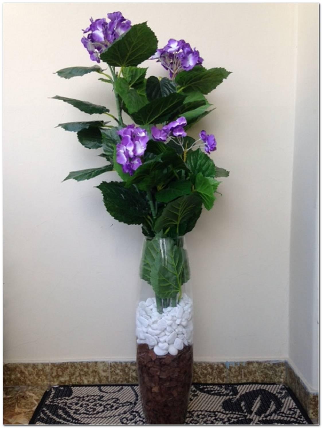 Vasos De Vidro Com Flores