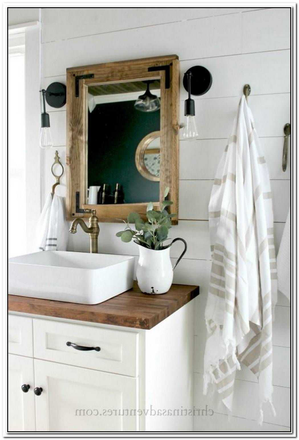 Vessel Bathroom Modern Farmhouse