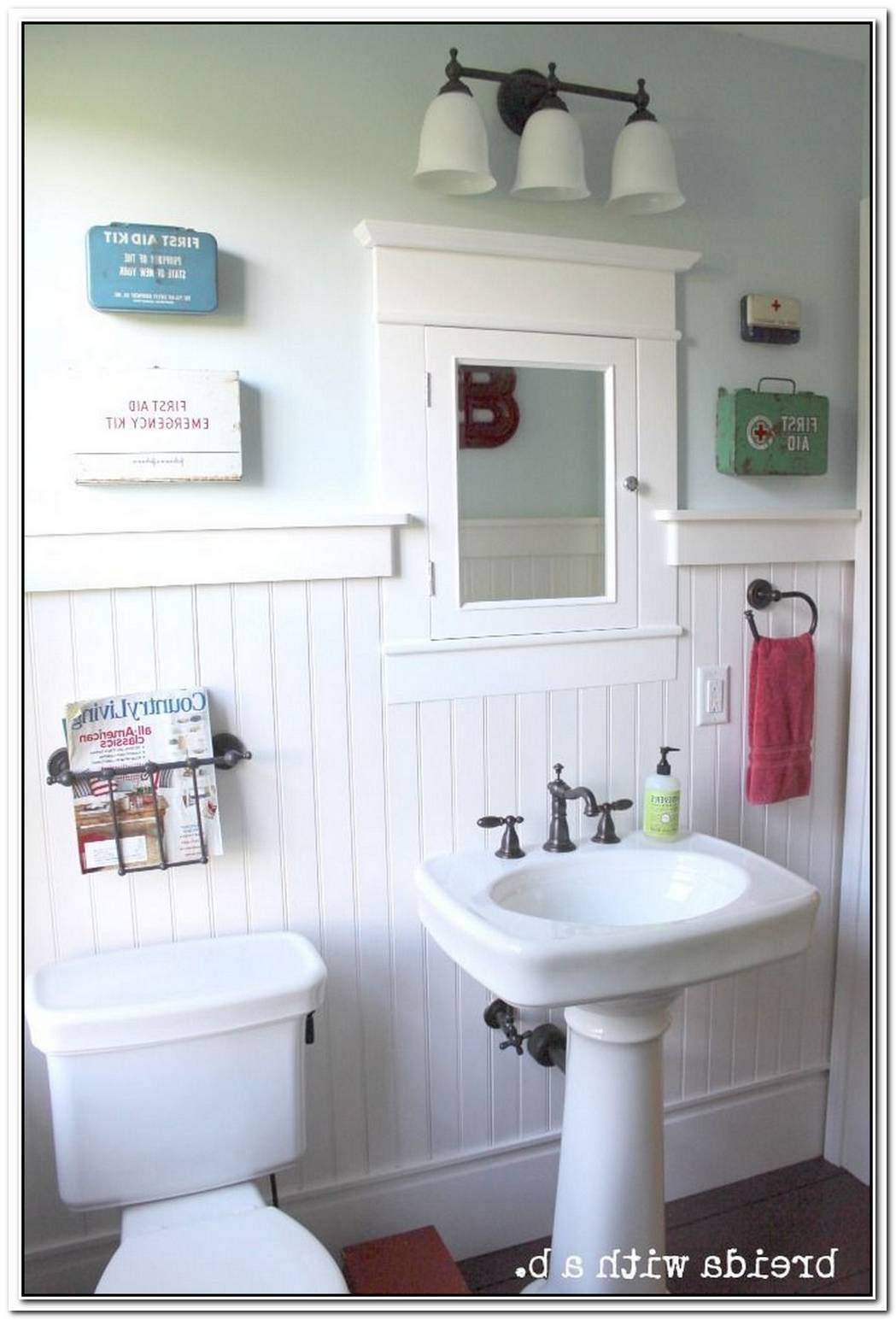 Vintage Bathroom Themed Farmhouse Bathroom
