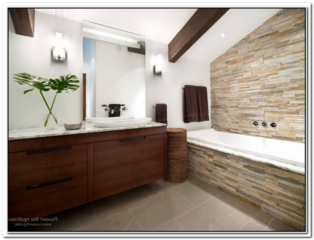 Wall Bathroom Modern Stone
