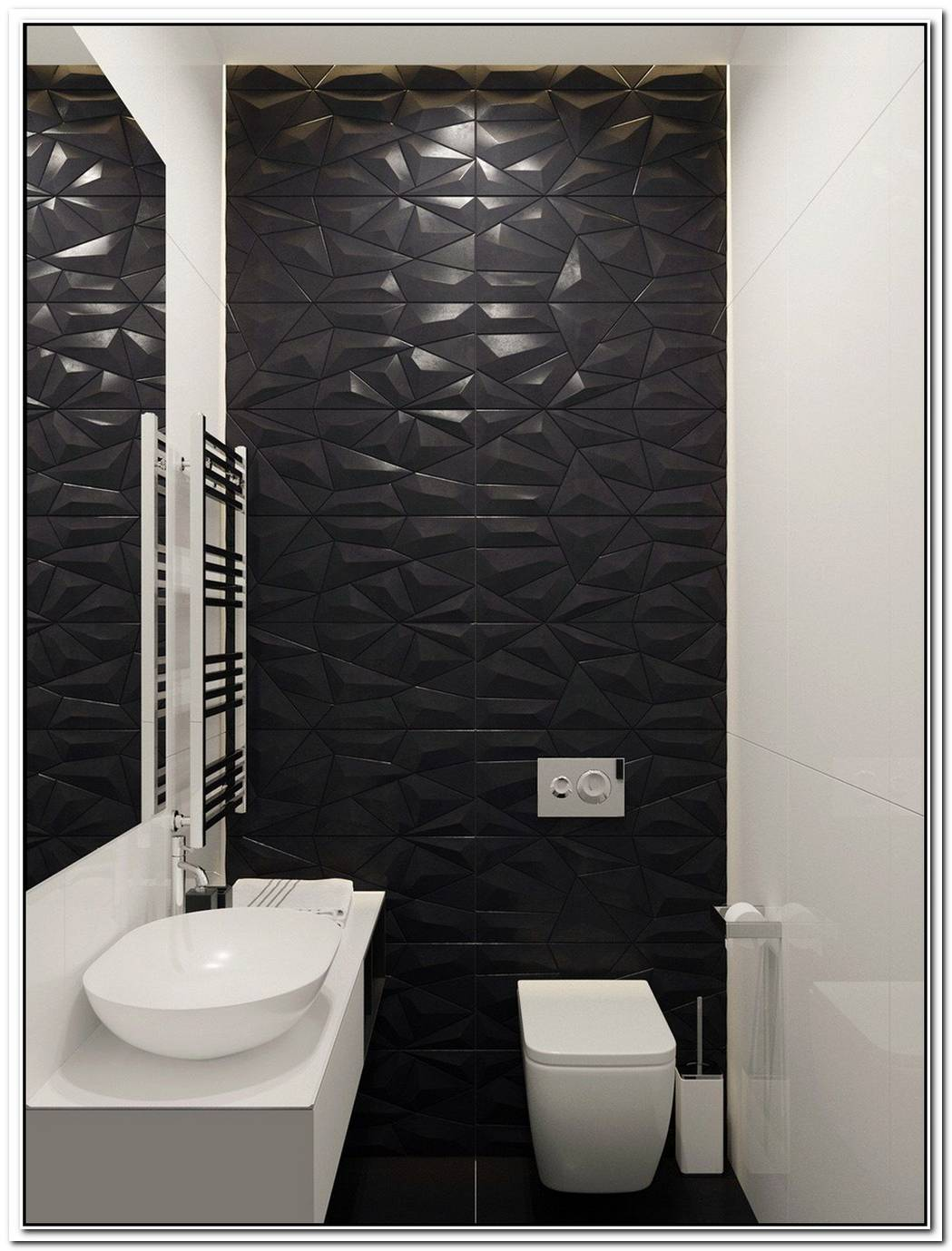 Wall Design Contemporary Bathroom Feature Wall