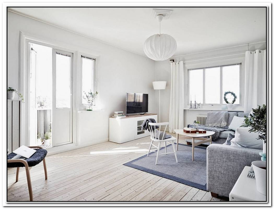 White And Sunny Scandinavian House
