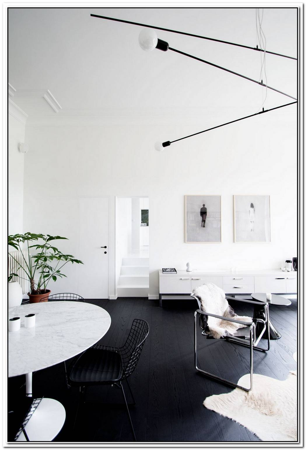 White Apartment In Belgium With A Minimalist Interior