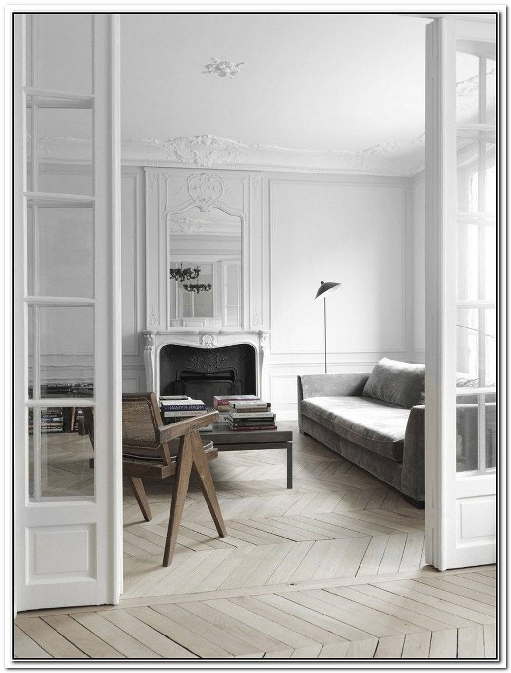 White Apartment Interior Design In Paris