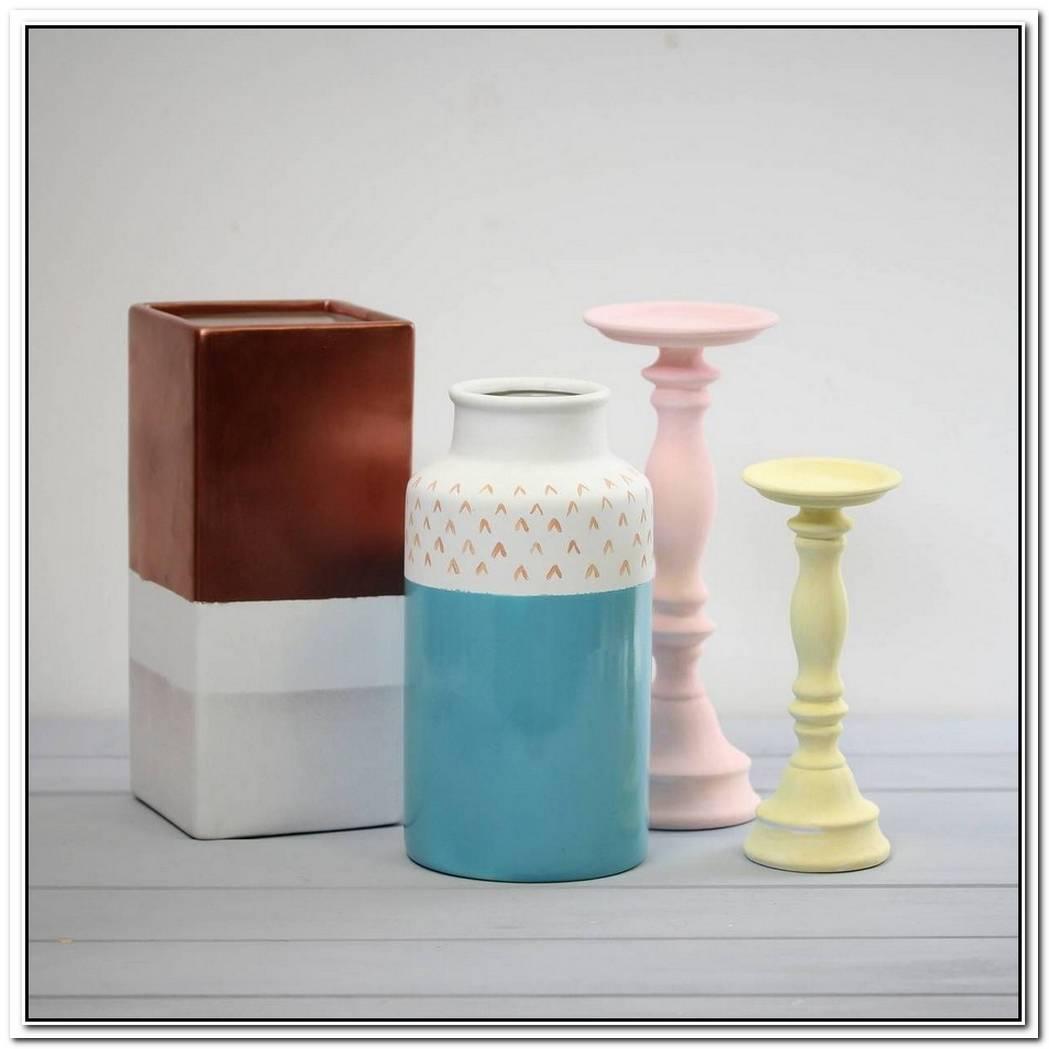 White Ceramic Candlestick Holders