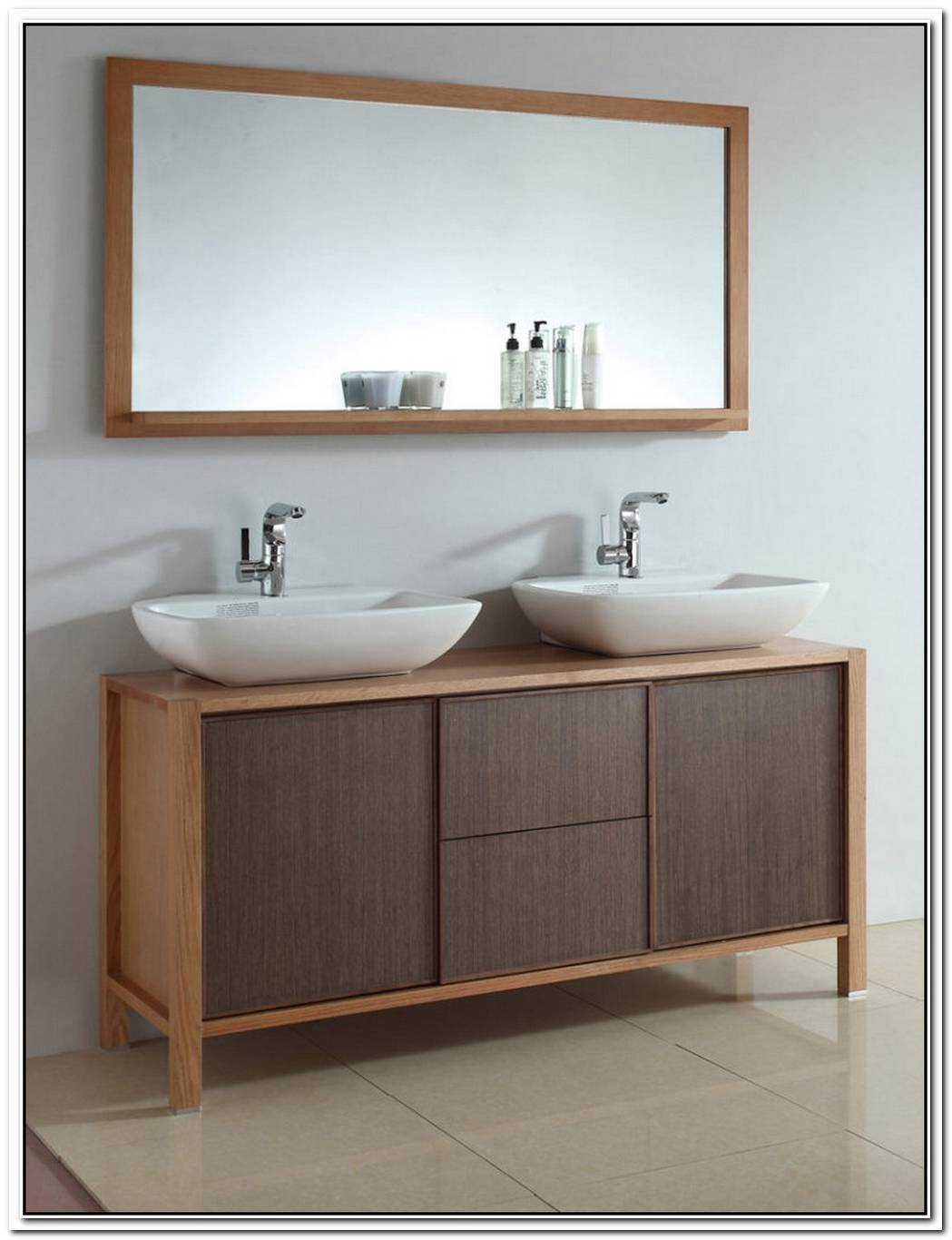 White Vanity Classic Contemporary Bathroom