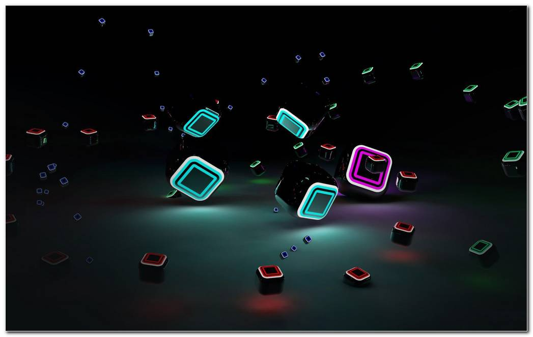 1920x1200 Colorful 3D Cube Image Abstract 3D Effect HD Wallpaper Free