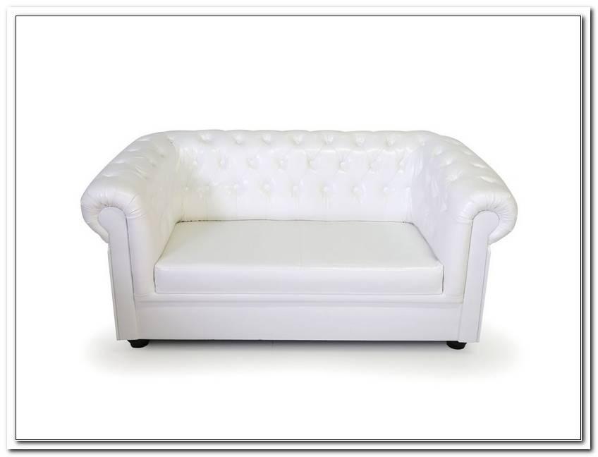 2er Sofa Kunstleder Wei?