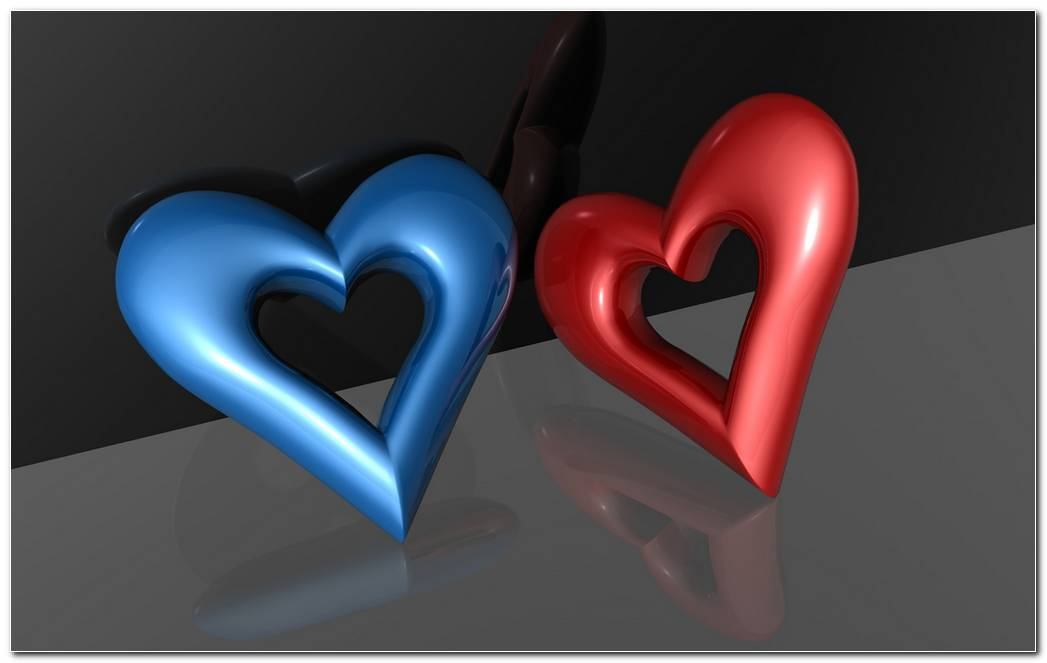3D Abstract Hearts HD Wallpaper