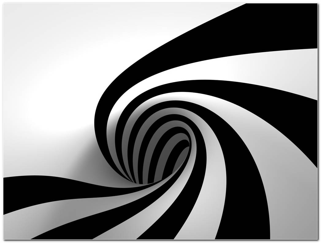 3D Black And White Abstract 1024x768
