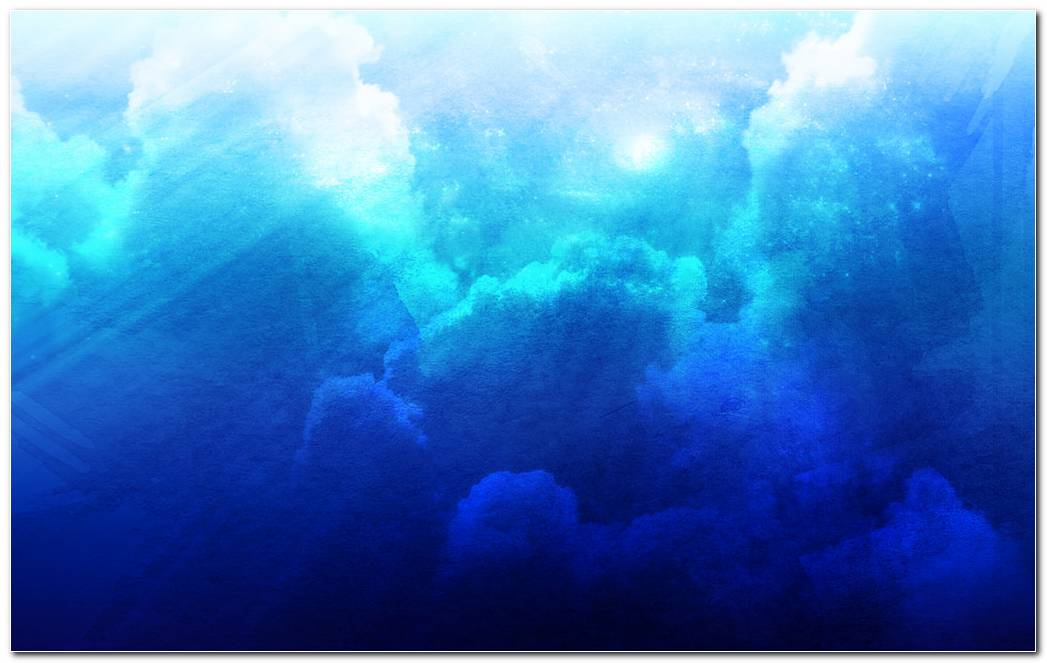Abstract Cloudy Sky Blue Background Wallpaper